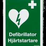 Skylt till hjärtstartare